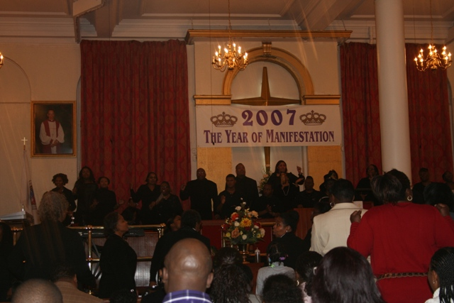12.02.05 - Church service in Harlem